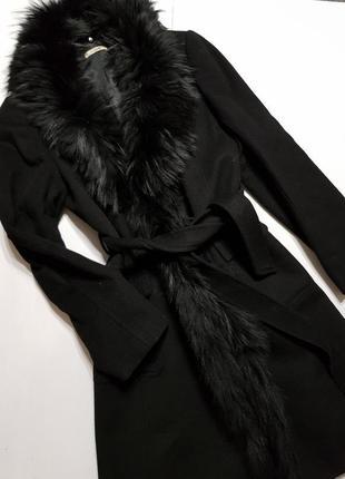 Шерстяное пальто размер м франция devernois
