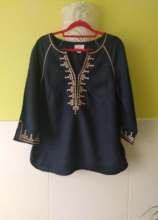 Рубашка с примесью льна с вышивкой от monsoon