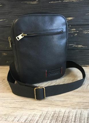 Мужская кожаная сумка vittorio-safino через плечо,чоловіча сумка шкіра