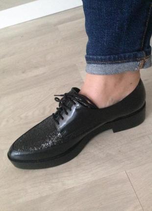 Новые туфли-дерби, евро зима  весна-осень на высокой подошве, р.38