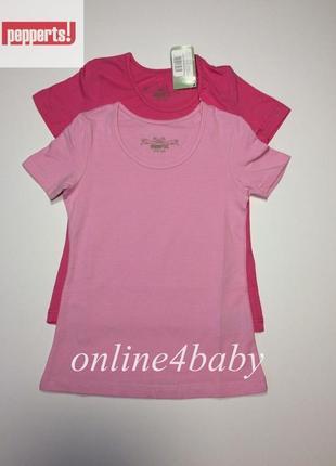Детская футболка pepperts на девочку 6-8, 10-12,12-14 лет, набор из 2 шт