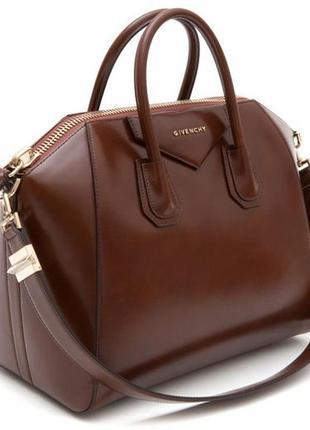 Givenchy antigona оригинал новая сумка шоколадного цвета большая