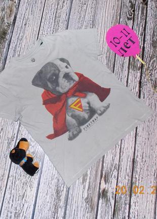 Красивая фирменная футболка для мальчика 10-11 лет, 140-146 см