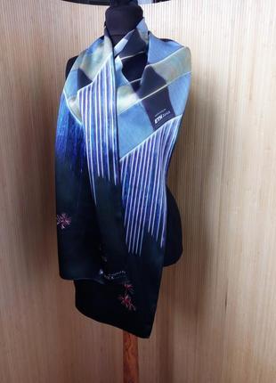 Немецкий шелковый шарф в клетку watex