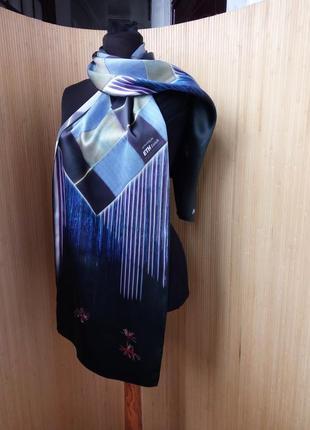 Немецкий шелковый шарф в клетку watex2