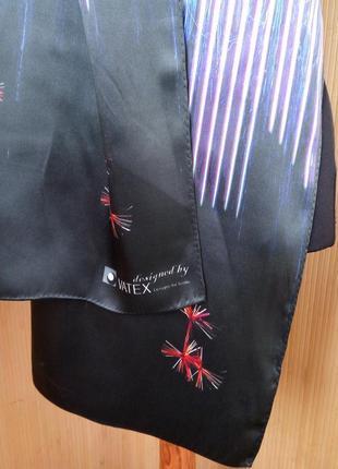 Немецкий шелковый шарф в клетку watex3