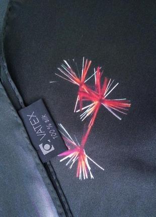 Немецкий шелковый шарф в клетку watex6