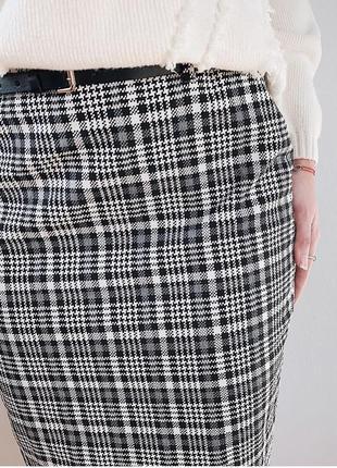 Летняя распродажа миди-юбка в клеточку от м&s
