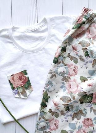 Женская пижама для дома из 100% хлопка