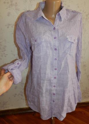 Marks&spencer блузка льняная стильная модная р14 per una