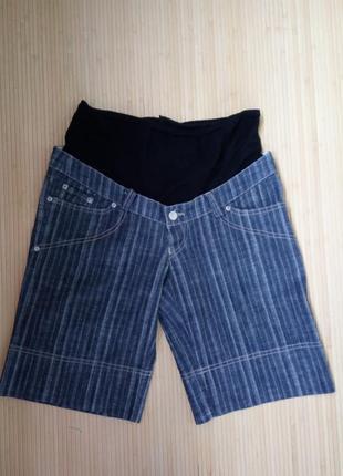 Джинсовые шорты с мягким поясом для беременных avishag arbel m/l