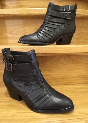 Шикарні мега стильні шкіряні черевички andre р-39