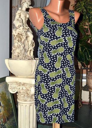 Платье с ананасами от h&m.