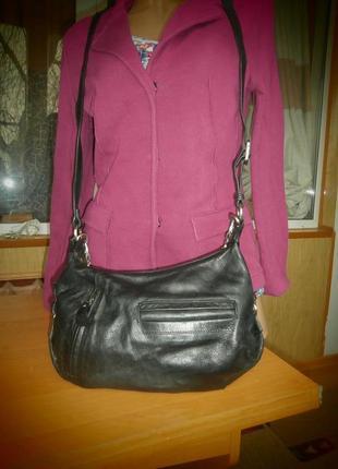 Удобная сумка/мясистая телячья натуральная кожа/кросс боди