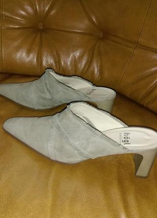 Мюли модные туфли без задников