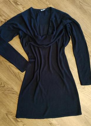 Базовое черное платье, темно-синее платье туника на размер s m