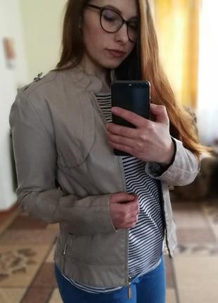 Куртка женская из экокожи holdluck