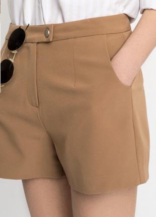 Коричневые замшевые шорты befree