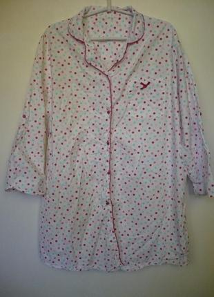 Рубашка домашняя в горох, размер 20-22