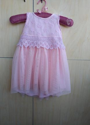 Шикарное платье next на 1,5 года