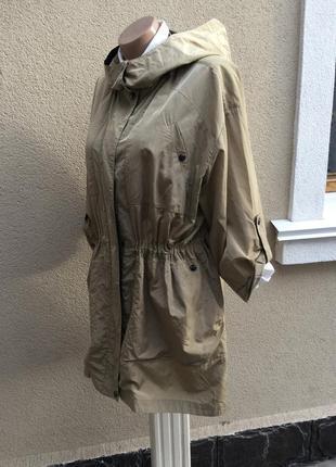 Тонкая куртка,плащ,тренч,дождевик,парка с капюшоном,большой размер,jaeger,хлопок