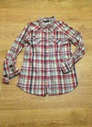 Стильная рубашка в клетку / dorothy perkins / l