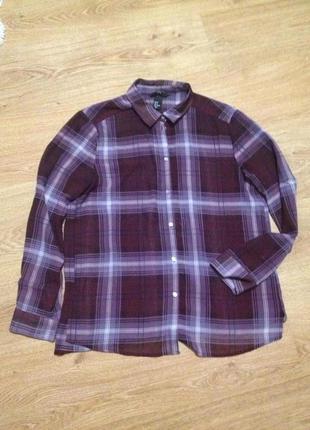 Стильная блуза рубашка в клетку / h&m /m