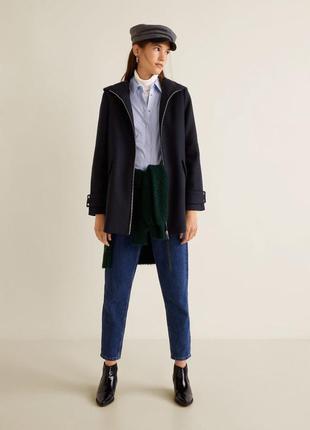 Акция- летняя цена! пальто с капюшоном mango, новое, s