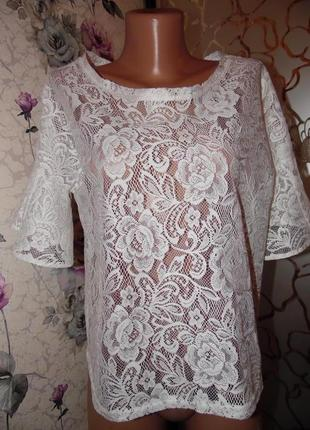 Какая нежность!!! кружевная блуза