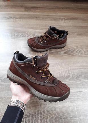 Крутые кожаные треккинговые ботинки wateproof timberland p.40-41