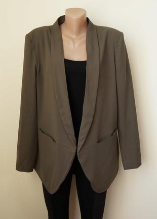 Стильный жакет пиджак кардиган цвет хаки