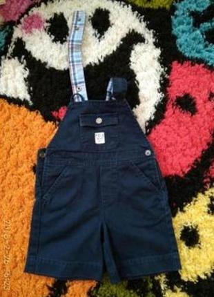 Летний джинсовый комбинезон шортиками ralph lauren