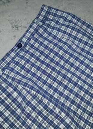 Немецкая клетчатая  юбка миди с высокой посадкой blanchelle8 фото