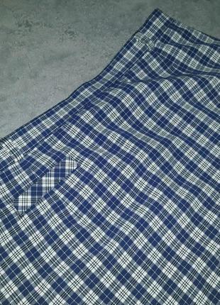 Немецкая клетчатая  юбка миди с высокой посадкой blanchelle9 фото