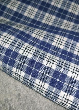 Немецкая клетчатая  юбка миди с высокой посадкой blanchelle10 фото