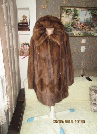 Роскошная норковая шуба 50-52р.капюшон греция