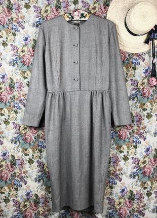 Винтажное шерстяное платье миди trussardi