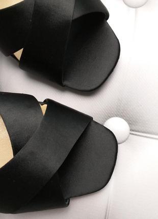 Chinese laundry kristin cavallari  босоножки сатиновые на широком каблуке бренд из сша2 фото