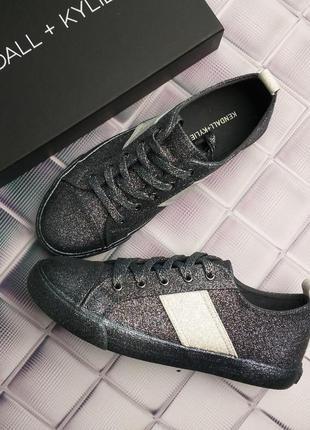 Kendall + kylie оригинал темно-серые кеды с глиттером бренд из сша