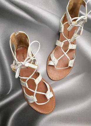 Tommy bahama оригинал кожаные сандалии гладиаторы на шнуровке бренд из сша