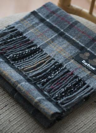 Шикарный шерстяной шарф от barbour