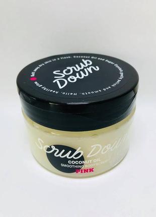 Скраб для тела coconut oil от victoria's secret pink, 283ml