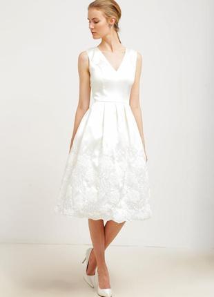 Свадебное платье короткое коктейльное uk8 chi chi london
