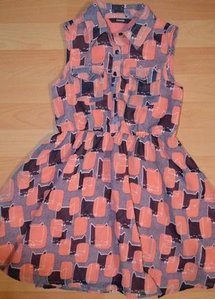 Щифоновое платье в котики