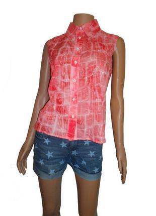Летняя рубашка, коралловый цвет