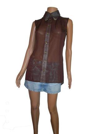 Шифоновая блузка без рукава, лето 2015