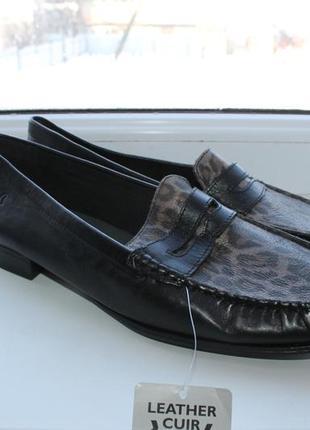 Кожаные туфли лоферы caprice