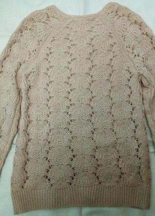 Шикарный свитерок с молнией на спинке