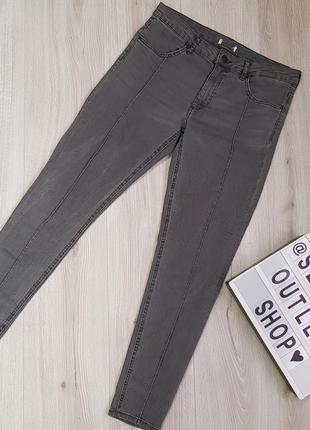 Серые укороченные джинсы 38-м размера h&m,джинсы со стрелками2 фото