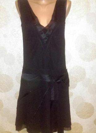 Винтаж шелковое платье ретро в стиле 20 х  гэтсби